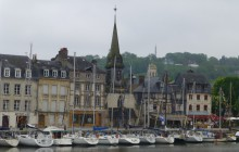 MYSTERY:  An old town, a steeple and lots of boats