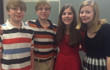 From left are Gavin McDonnell, Ethan McDonnell, Lacey Shaffer and Madelyn Shaffer.