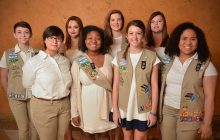 Gwinnett Girl Scouts who earned the 2016 Gold Award are, from left to right, Megan Keck, Alaina Fletcher, Alexandra Quarterman, Rachel Raspberry, Allison Gallagher, Riley Moran, Rachel Flowers and Kirsten Hughes. (Chris Hunt/Special) www.chuntimages.com 404-626-6093 hunt_mchris@bellsouth.net