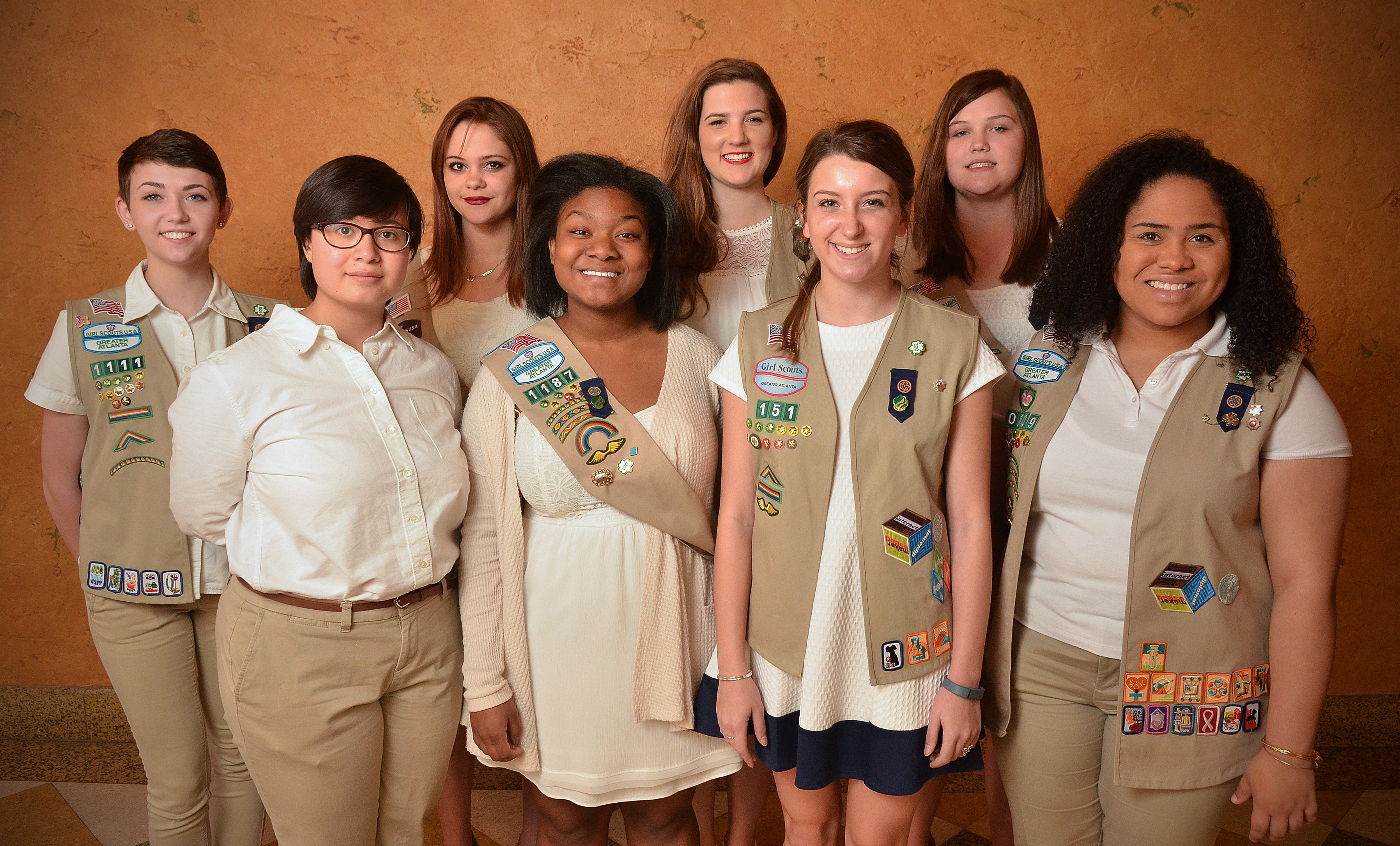 gwinnett forum focus gwinnett girl scouts to hold together gwinnett girl scouts who earned the 2016 gold award are from left to right