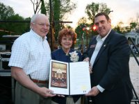 Lillian Webb, center, pictured in 2010 with state Rep. Tom Rice, left, and Pedro Marin, right, when a Norcross park was named in her honor.  More.