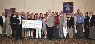 7/25: Veterans monument; Political considerations; Rotary donation
