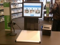 A self check-out kiosk from Washington state.